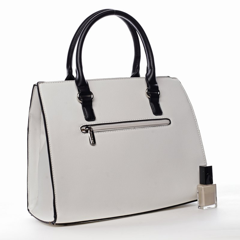 Elegantní dámská pevná kabelka Erika, bílá