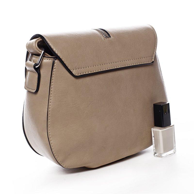 Stylová crossbody kabelka s třásněmi Federica, krémová písková