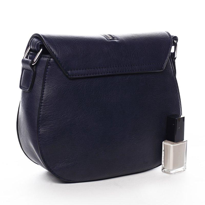 Stylová crossbody kabelka s třásněmi Federica, modrá
