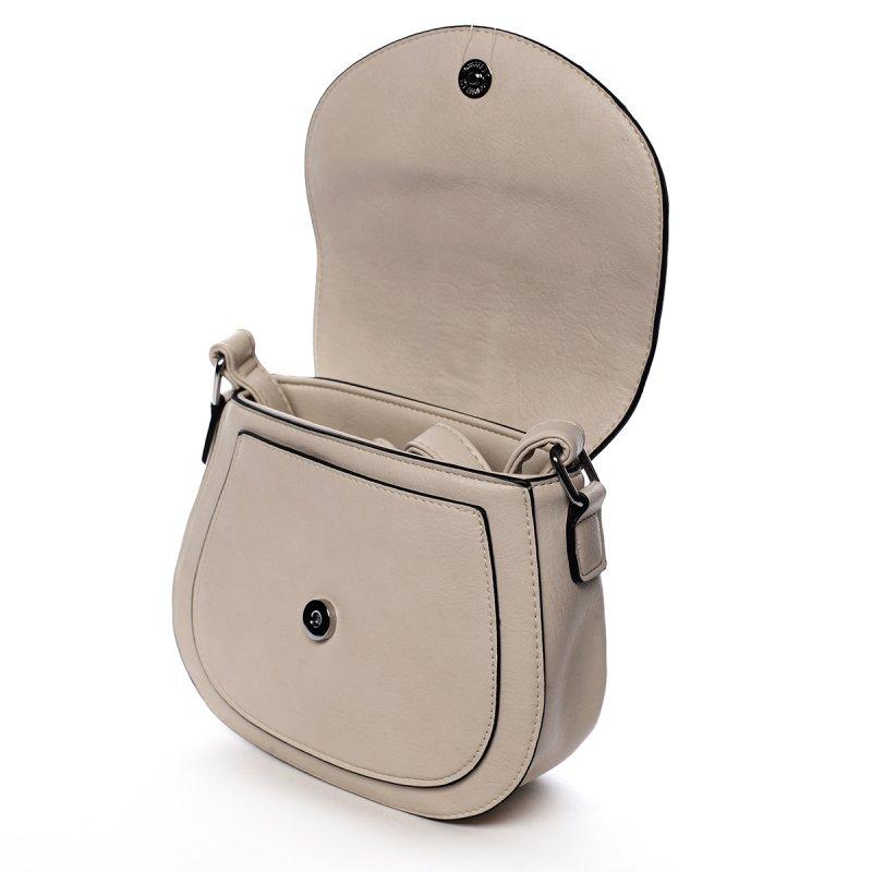 Stylová crossbody kabelka s třásněmi Federica, béžová