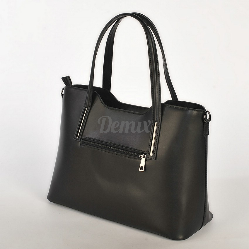 Elegantní kožená dámská kabelka do ruky Hilary, černá