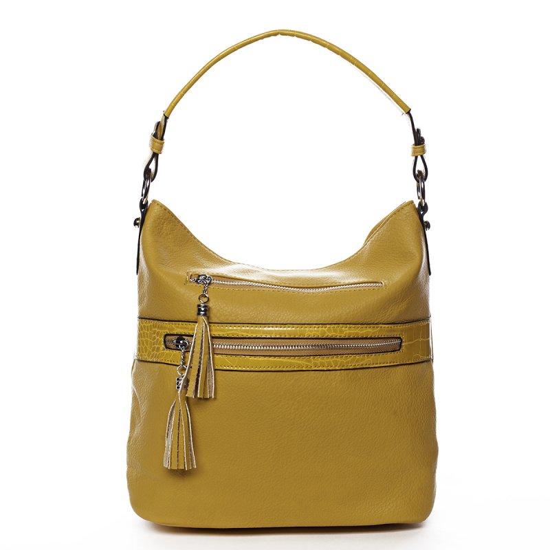 Jemná dámská pohodlná kabelka Baptiste žlutá