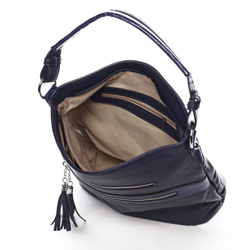 Jemná dámská pohodlná kabelka Baptiste modrá