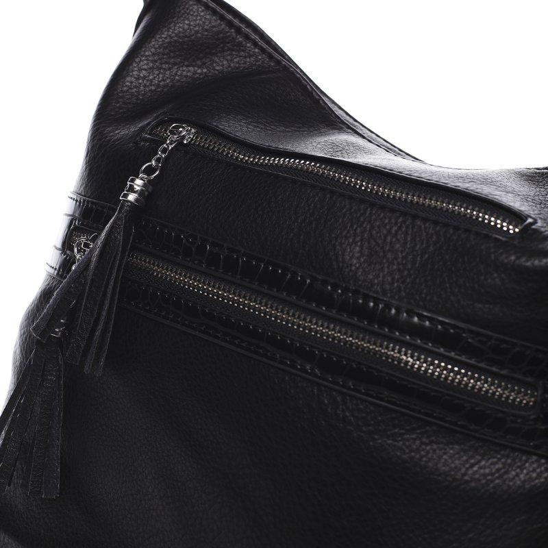 Jemná dámská pohodlná kabelka Baptiste černá