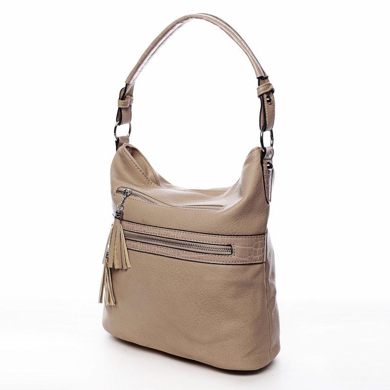 Jemná dámská pohodlná kabelka Baptiste zemitá