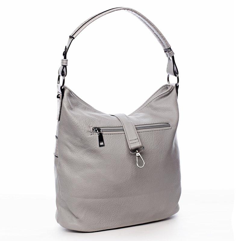 Jemná dámská pohodlná kabelka Baptiste šedá