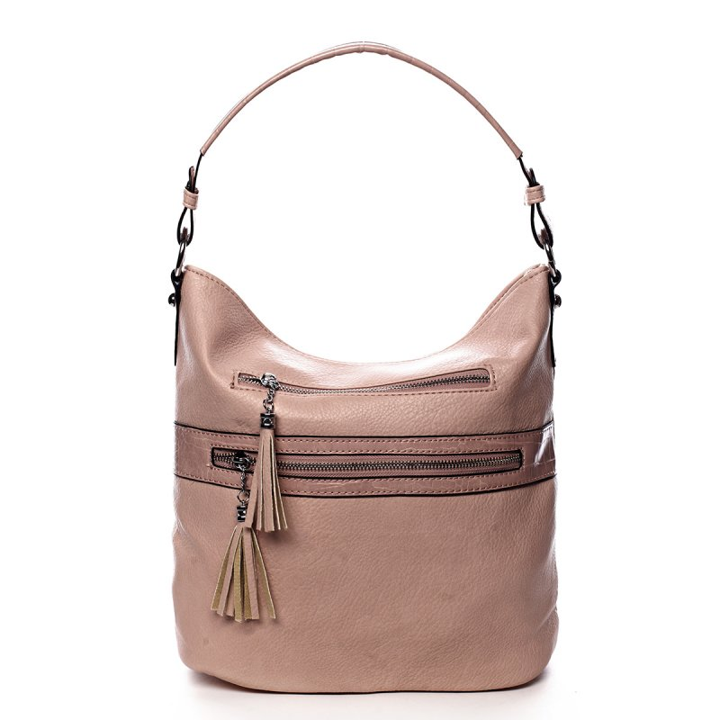 Jemná dámská pohodlná kabelka Baptiste růžová