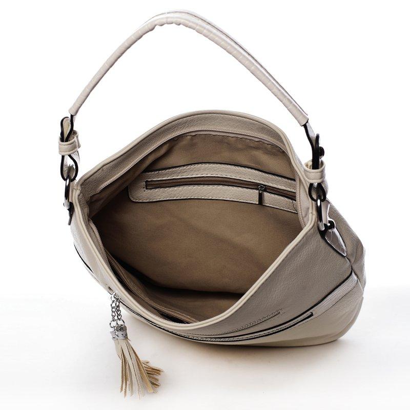 Jemná dámská pohodlná kabelka Baptiste béžová
