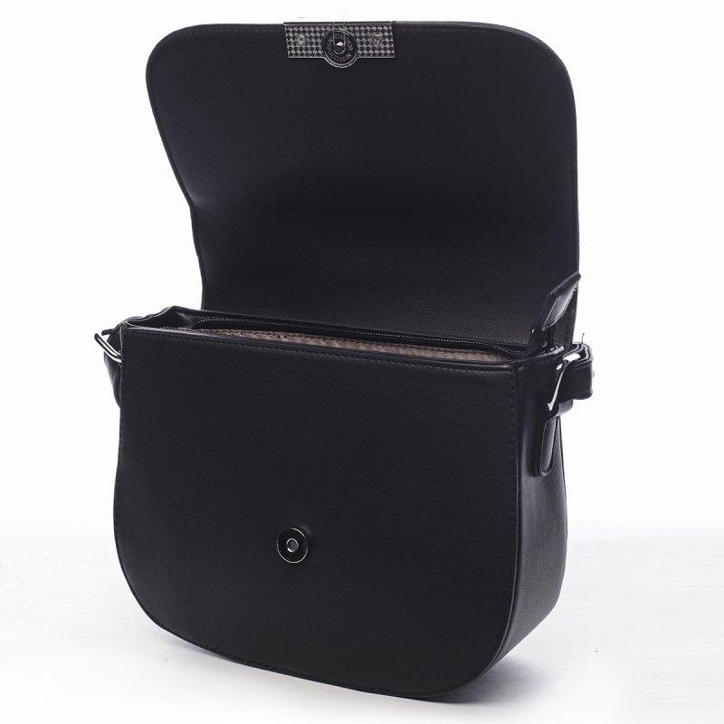 Elegantní dámská koženková crossbody Odette černá