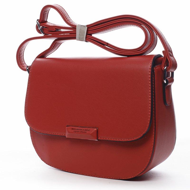 Elegantní dámská koženková crossbody Odette červená
