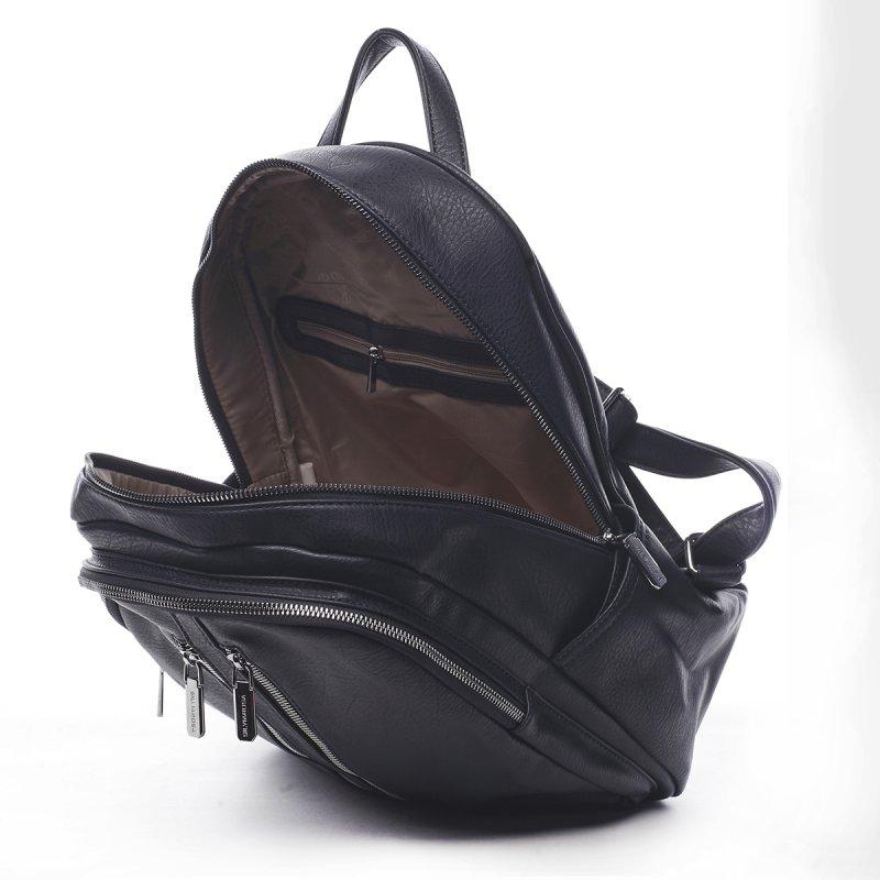 Praktický dámský koženkový batůžek Anselme modrá