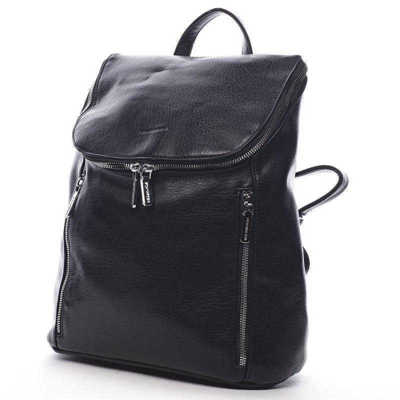 Módní městský koženkový batůžek Marc černá