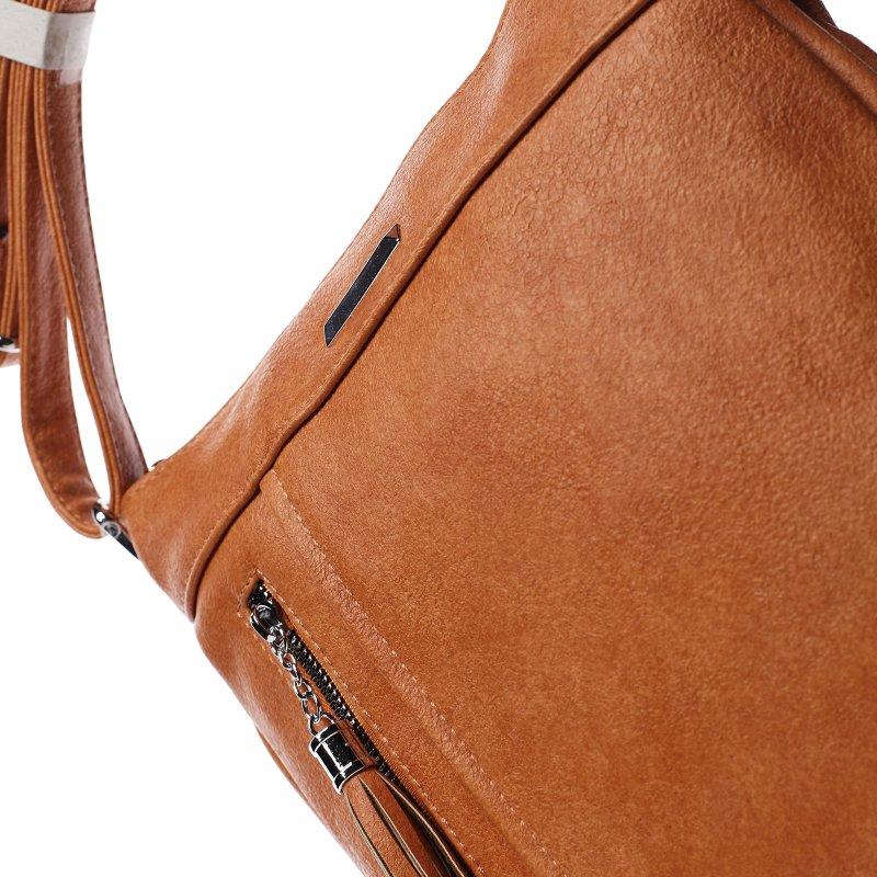 Praktická dámská koženková crossbody Ewen oranžová