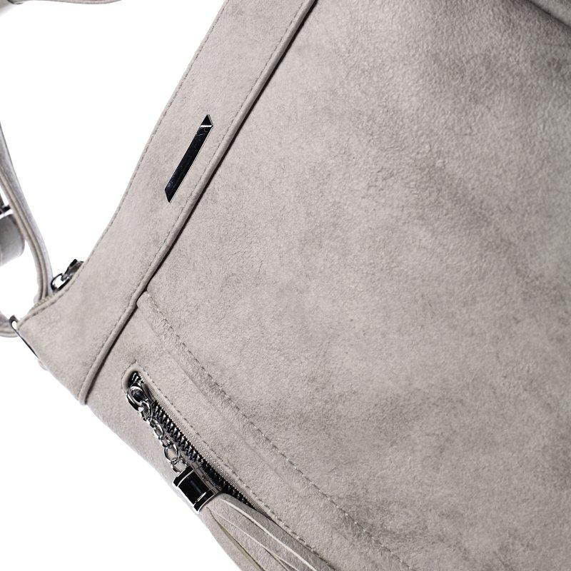 Praktická dámská koženková crossbody Ewen grey