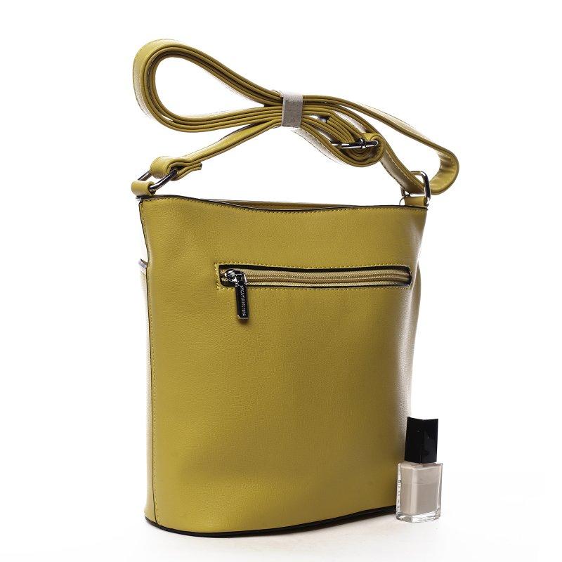 Kombinovaná dámská koženková crossbody Sylvian žlutá