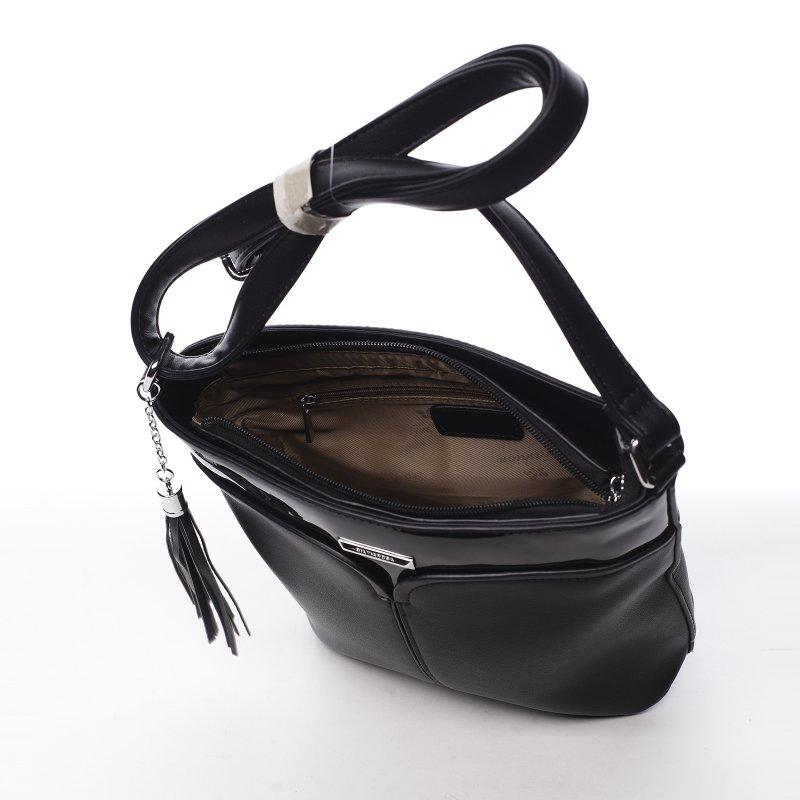 Kombinovaná dámská koženková crossbody Sylvian černá