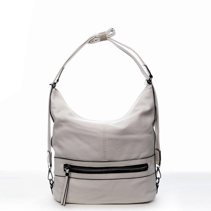 Praktická dámská koženková taška/batoh Hervé bílá