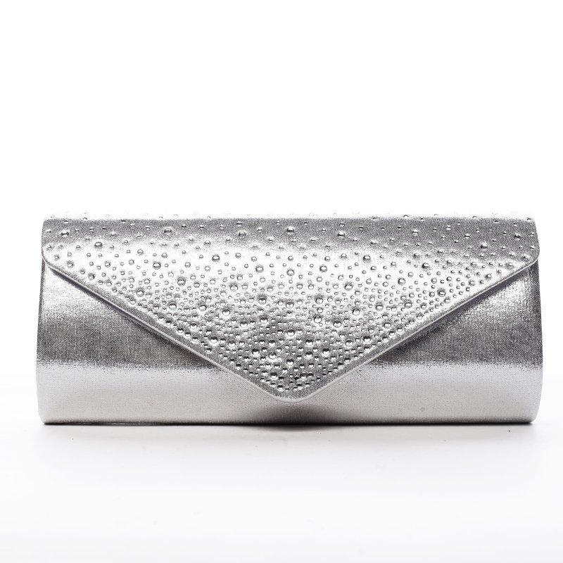 Krásné dámské psaníčko zdobené kamínky Elisee stříbrná