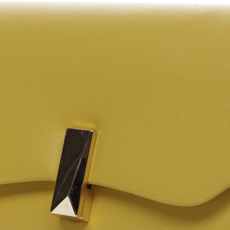 Desingové dámské koženkové psaníčko Germaine žlutá