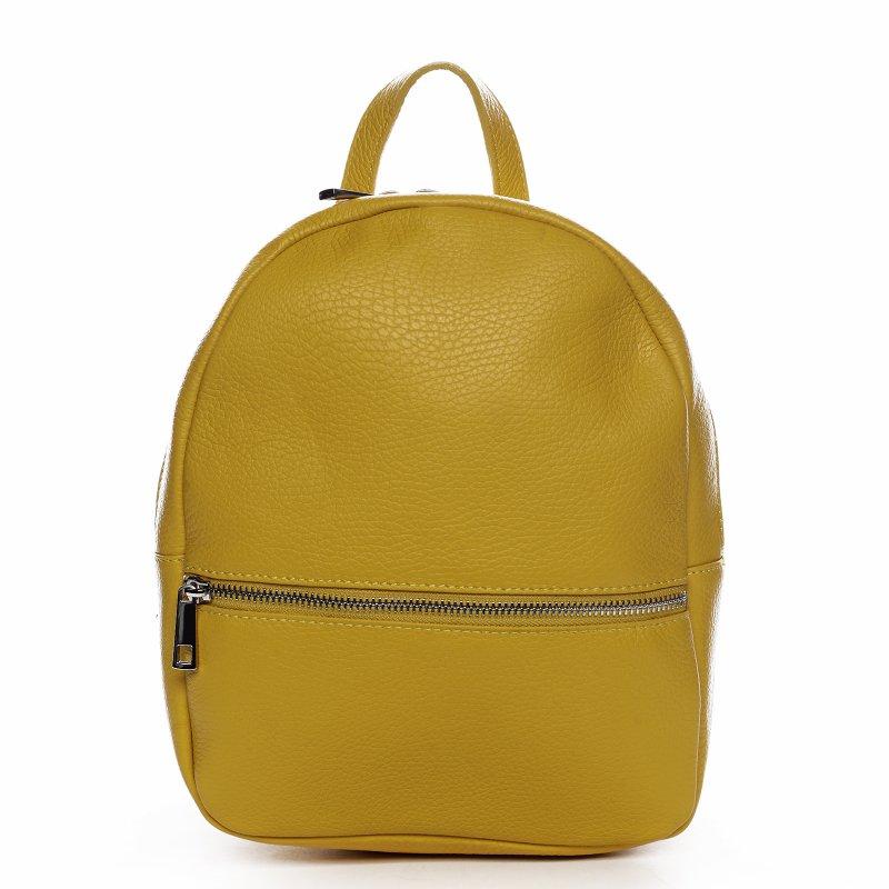 Batůžek z kůže pro dámy PAULETTE, žlutý