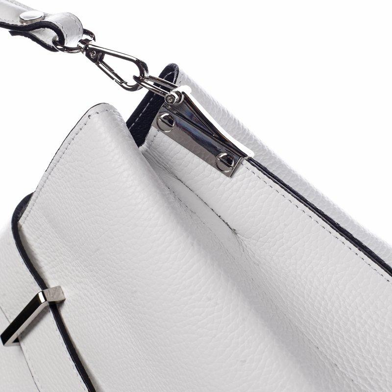 Nepřehlédnutelná dámská kožená kabelka Margot bílá