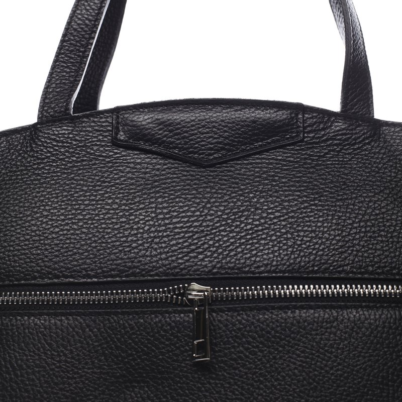 Praktická dámská kožená kabelka Aaron černá