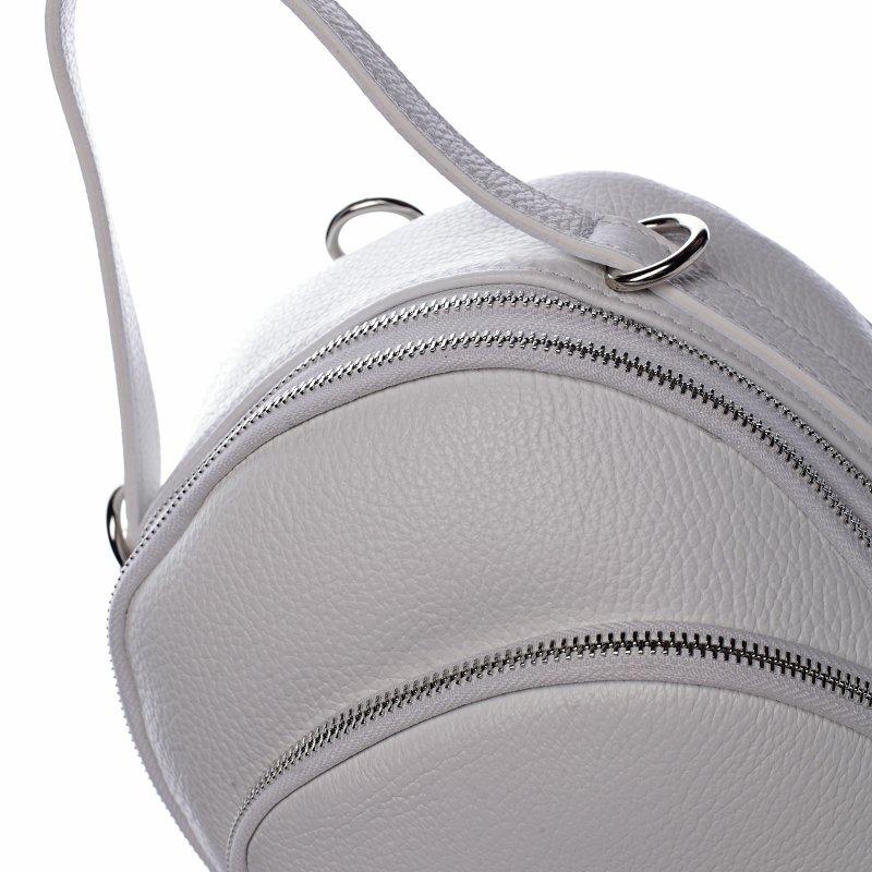 Menší dámský kožený batůžek/crossbody  Thomas bílá
