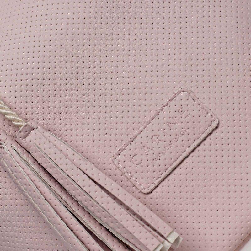 Módní dámský koženkový vak Henri Carine růžová