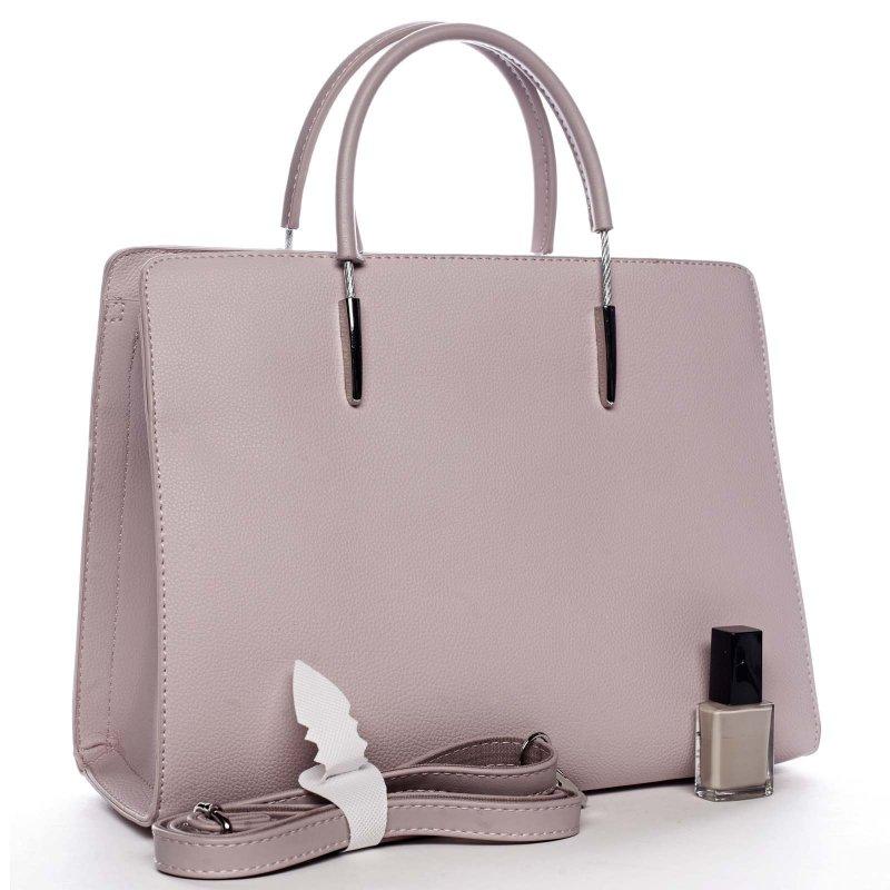 Elegantní dámská koženková taška Joel světle fialová