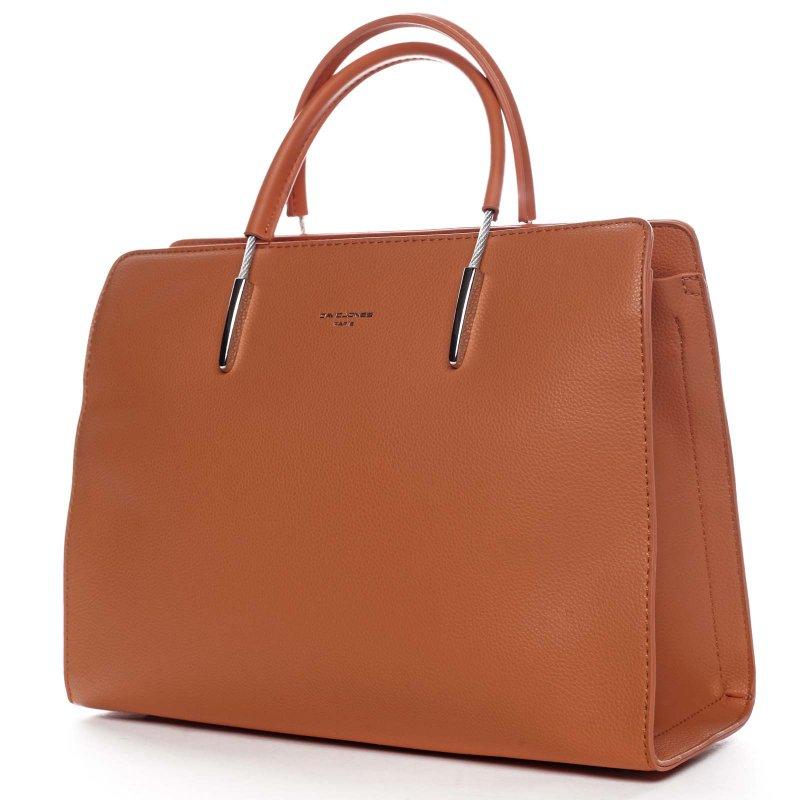 Elegantní dámská koženková taška Joel oranžová