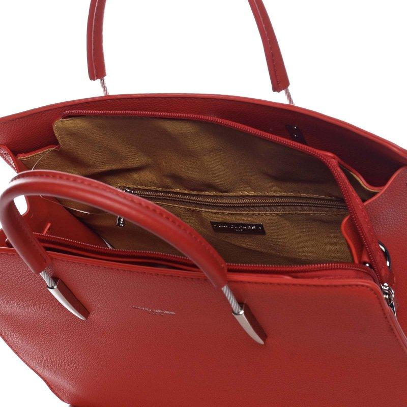 Elegantní dámská koženková taška Joel červená