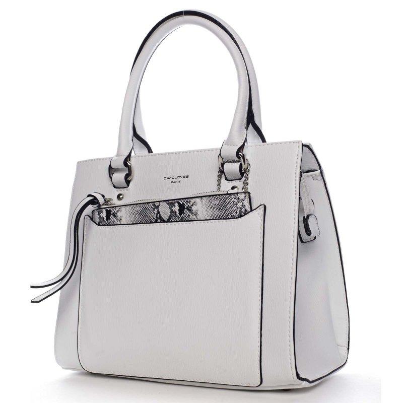 Krásná dámská pevná kabelka Camille bílá
