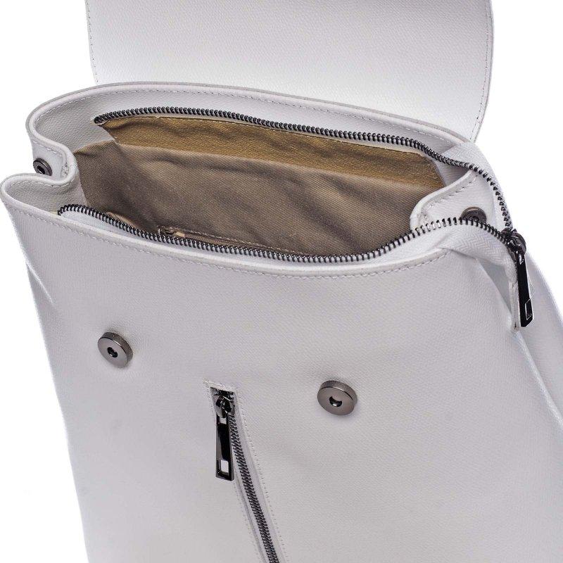 Elegantní dámský kožený batůžek Donald bílá