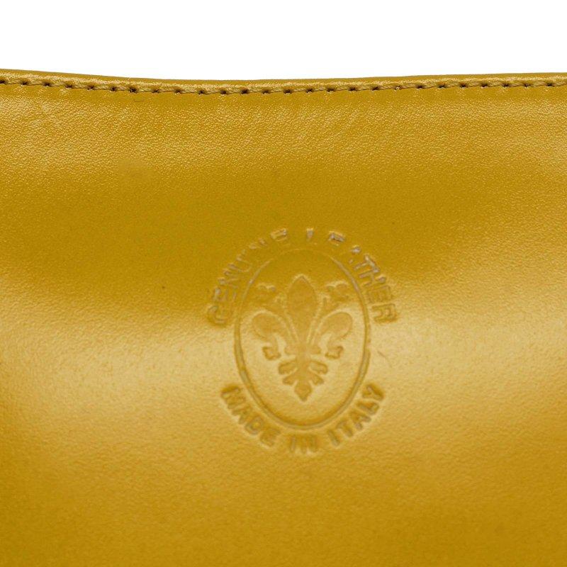 Dámská malá kožená crossbody Elvire žlutá