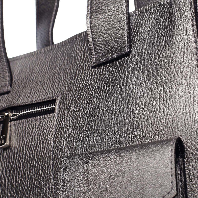 Luxusní prostorná dámská taška RANCOISE, tmavě šedá