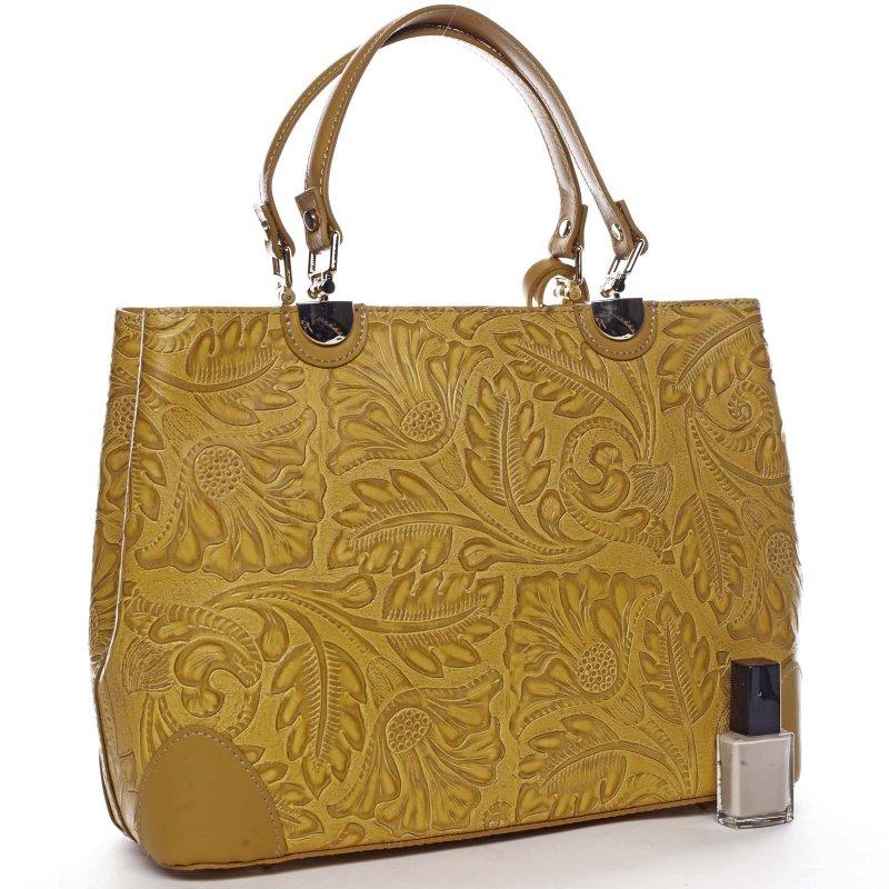 Luxusní dámská kožená kabelka Mira