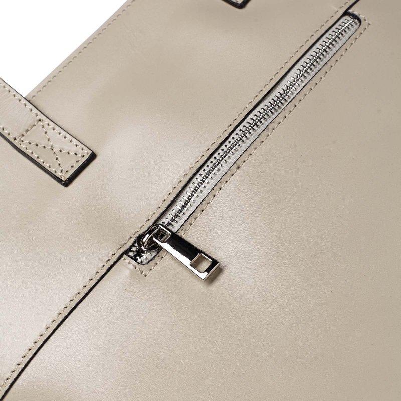 Velká dámská kožená kabelka Vivien béžová