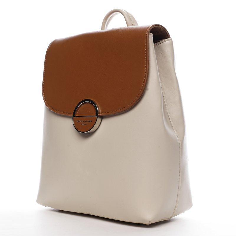 Praktický městský dámský koženkový batoh Lovely, hnědý