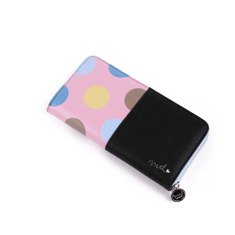 Designová dámská peněženka VUCH  Naivy, černá/růžová