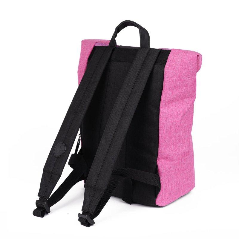 Trendový batoh Jeffry VUCH, tmavě růžová