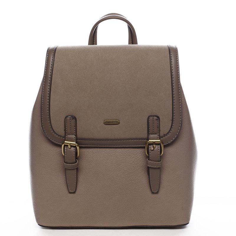 Moderní dámský koženkový batoh Sanja, camel