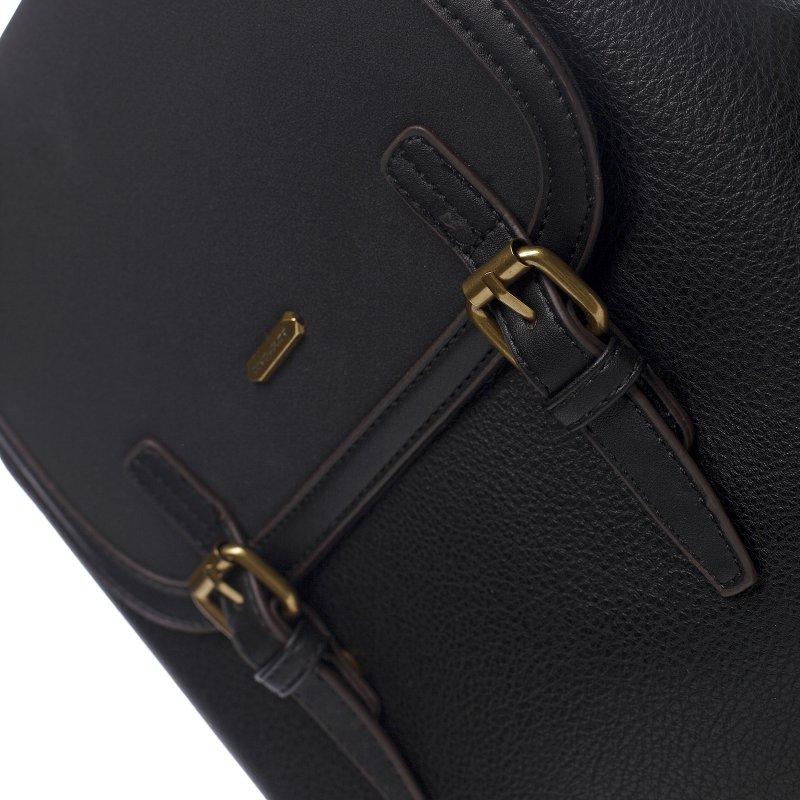 Moderní dámský koženkový batoh Sanja, černý