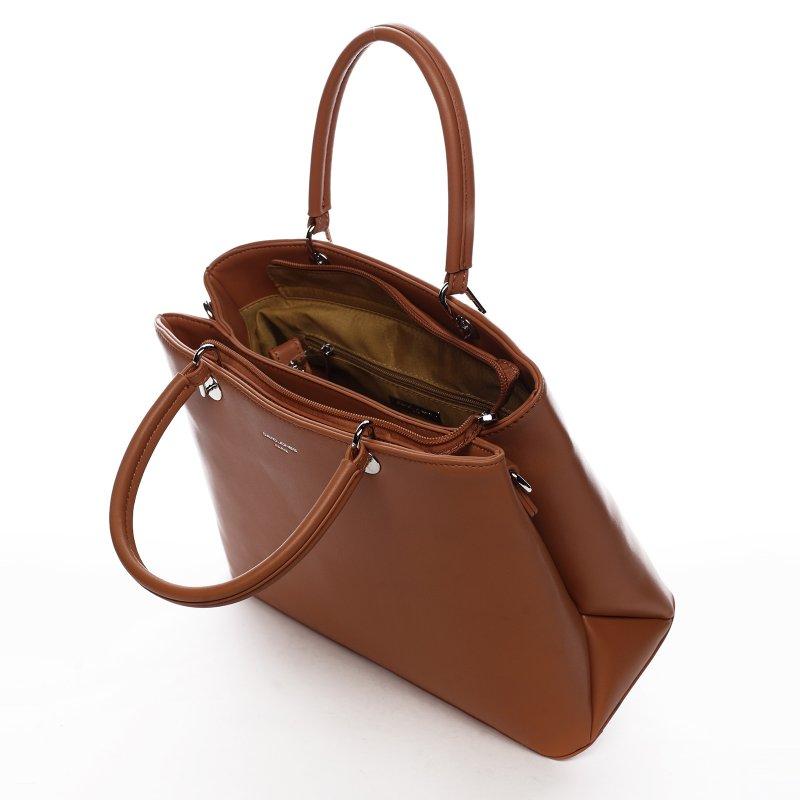 Elegantní dámská koženková kabelka Lisana, oranžová