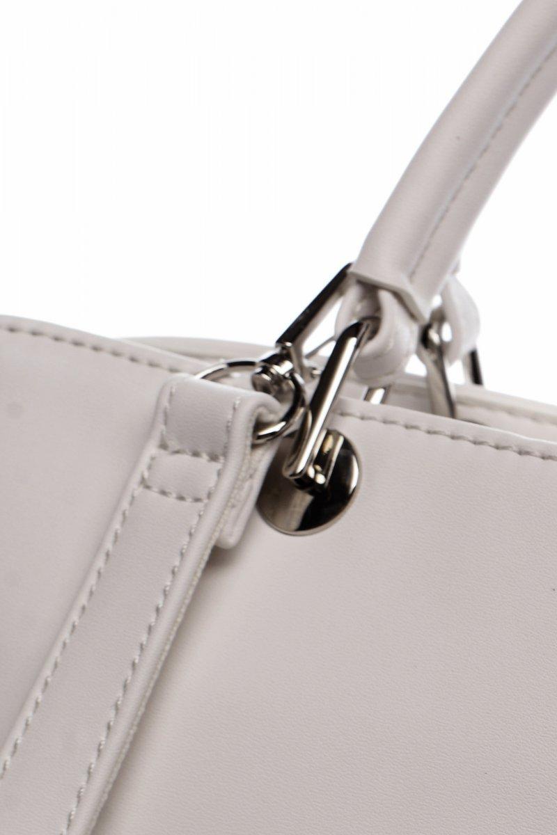 Elegantní dámská koženková kabelka Lisana, bílá