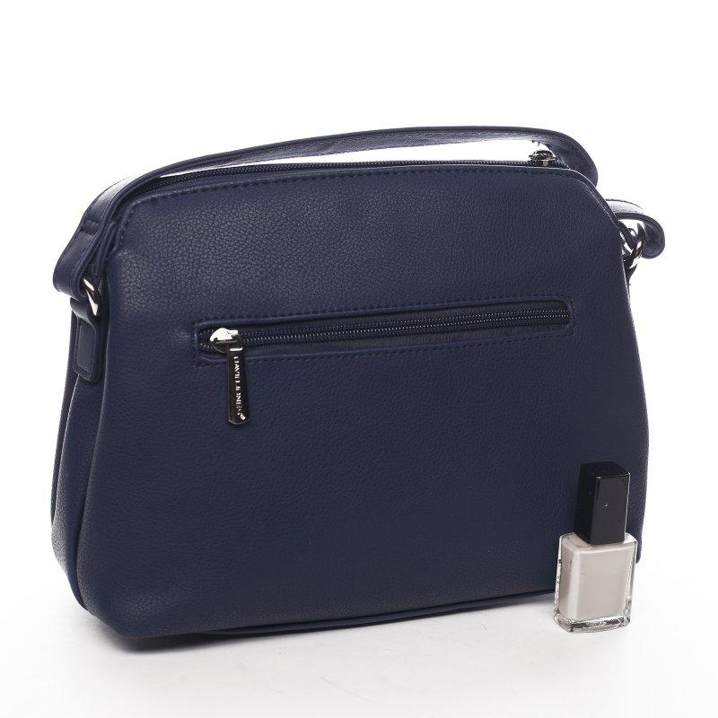 Sportovní menší koženková kabelka Lidijah, krémově modrá