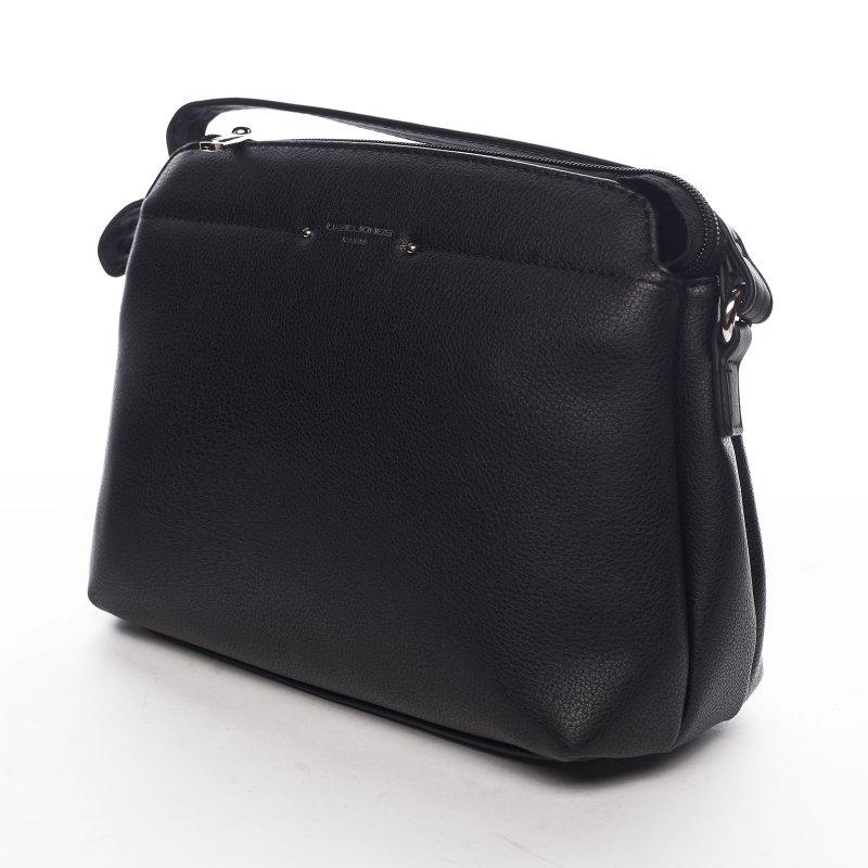 Sportovní menší koženková kabelka Lidijah, černá