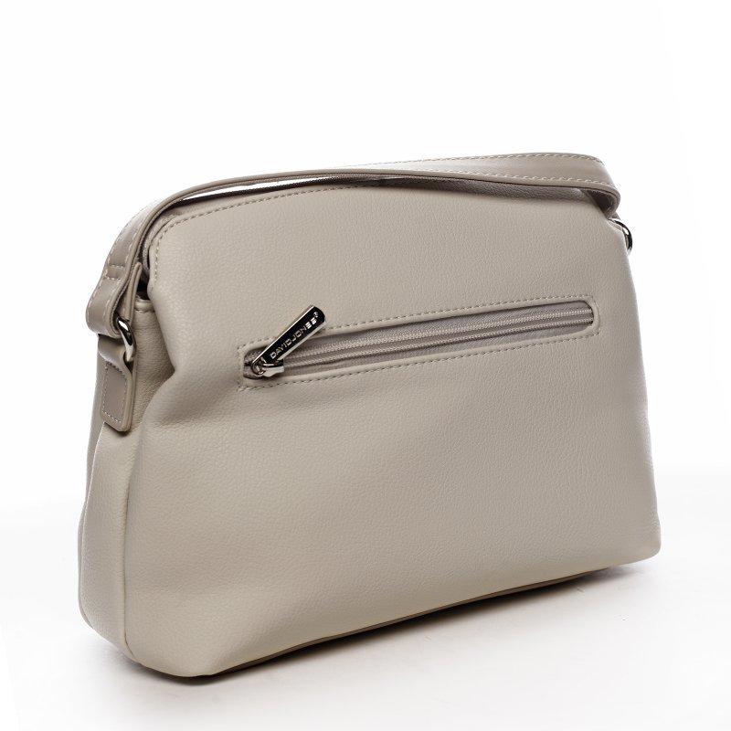 Sportovní menší koženková kabelka Lidijah, krémově bílá