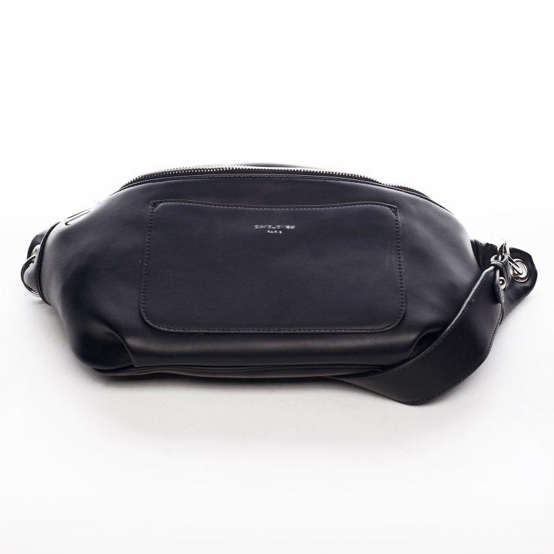 Moderní koženková ledvinka Lovely Sarah, černá