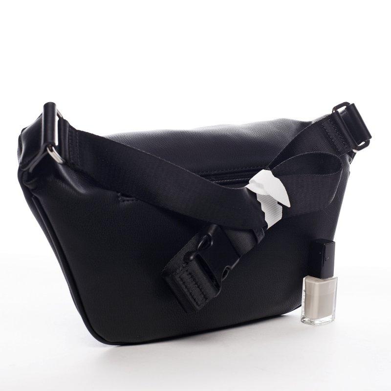 Moderní koženková ledvinka Smiljka, černá