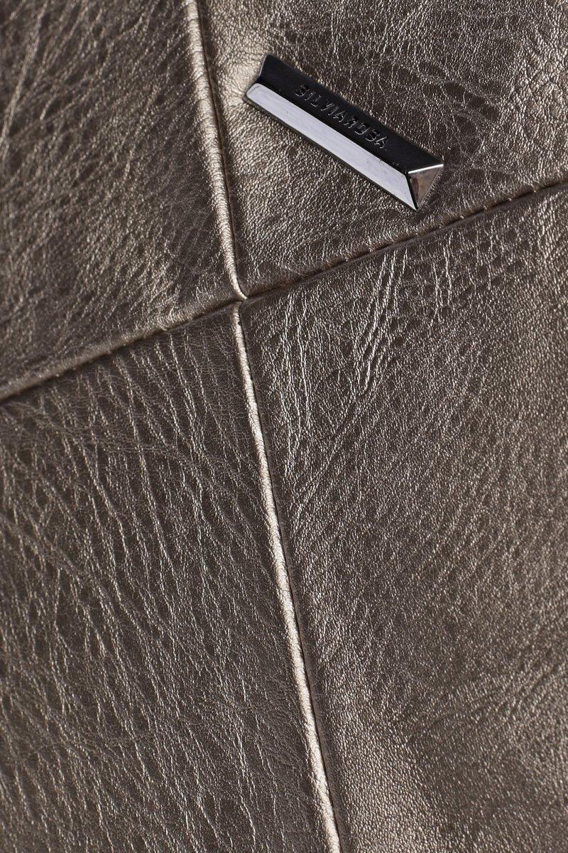 Moderní městský koženkový batoh Future, stříbrný